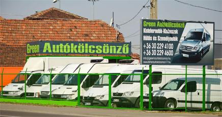 green teherautó bérlés